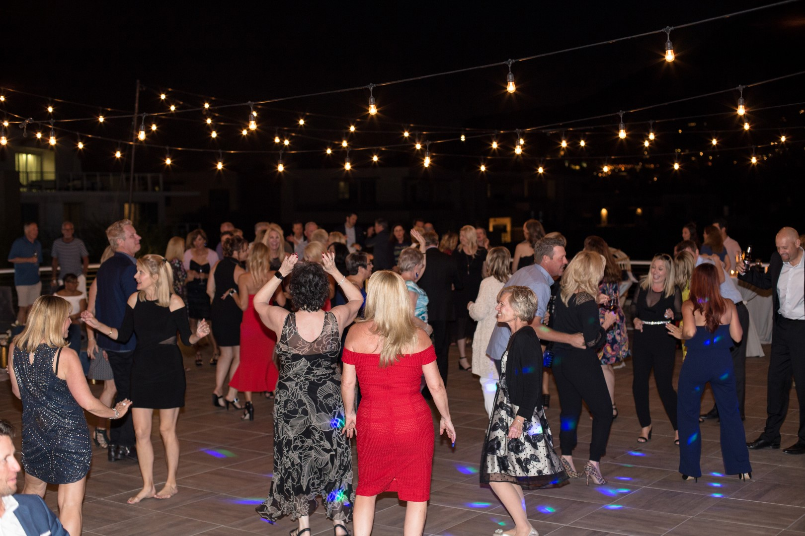 Dancing to the beats of the Hamptons Band